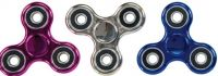 Metallic Plastic Fidget Spinners (Assorted Colors)