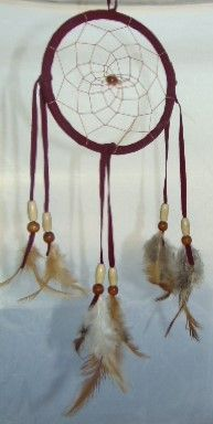 "4.5"" Dream Catcher Brown with Tan Beads"