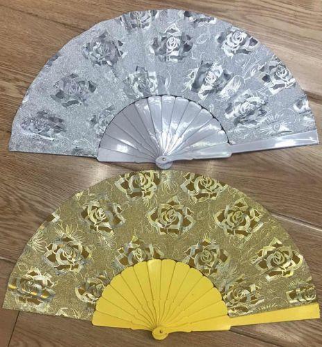 Folding Fan (silver & gold)