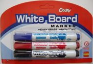 3 pc Erasable Marker Set (assorted)