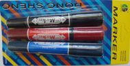 3 pc Double Ended Marker (assorted)
