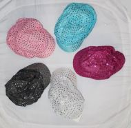 Newsboy Hat with Small Sequins