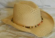Tan Cowboy Hat Machined Rolled