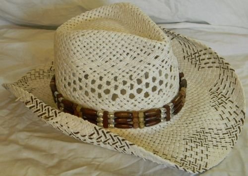 White Rolled Cowboy Hat