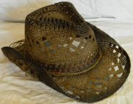 Dark Two Toned Rolled Cowboy Hat