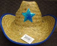 Youth Cowboy Hat with Star (Blue or Red)