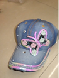 Youth Bling Butterfly Baseball Cap