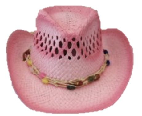 Spray Painted Cowgirl-Beads