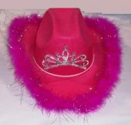 Light Up Youth Cowgirl Hat with Feathers