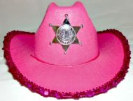 Girl Sheriff Hat Assorted