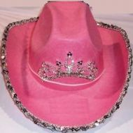 Youth Cowgirl Hat with Sequin Pink