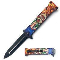 "Folding Knife ""Clown Blue"""