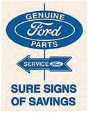 "12 x 15 Metal Sign ""Ford Parts"""