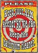 "12 x 17 Metal Sign ""Aim Keener"""