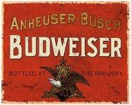 "12 x 15 Metal Sign ""Budweiser Vintage"""