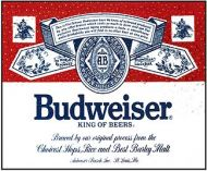 """12 x 15 Metal Sign """"Budweiser"""""""