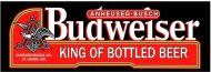 """8 x 24 Metal Sign """"Budweiser"""""""