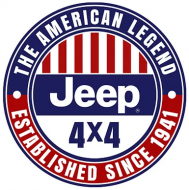 """15"""" Dome Sign """"Jeep American Legend"""""""