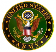 """15"""" Dome Sign """"Army Emblem"""""""