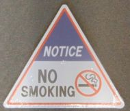 Triangle Sign: No Smoking