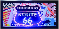 """LED Lights Sign """"Route 66 Plates"""""""