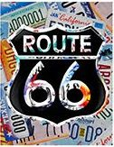 """12 x 15 Metal Sign """"Route 66 License Plates"""""""