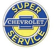 "12"" Round Sign ""Chevy Service"""