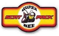 """LED Light Up Sign """"Super Bee Marque"""""""