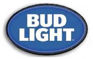 "LED Light Up Sign ""Bud Light Round"""