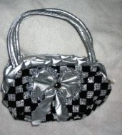 Checkered Sequin Purse
