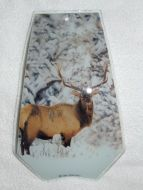 Elk in Snow Touch Lamp Glass