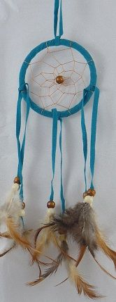 """3"""" Dream Catcher with Tan Beads"""