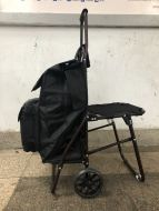 Steel Cart w/Seat and Cooler