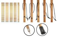 """55"""" Wooden Hiking Sticks with Burnt Images"""