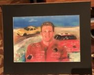 Earnhardt Jr with Cars Graphic Art