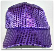 Youth Sequin Baseball Hat 4 Color
