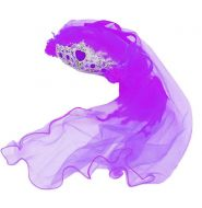 Headband Crown w/Purple Tulle