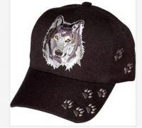 """Baseball Cap """"Wolf with Paw Prints"""""""