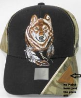 """Baseball Cap """"Wolf with Feathers"""""""