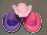 Light Up Star Hat with Feather Pink