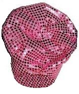 Youth Large Sequin Newsboy Cap (Pink Only)