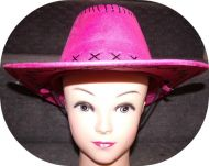Youth Cowgirl Hat 54 cm