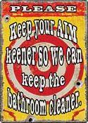 """12 x 17 Metal Sign """"Aim Keener"""""""