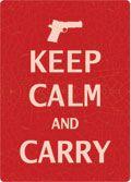 """12 x 17 Metal Sign """"Keep Calm & Carry"""""""