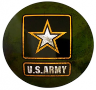 """15"""" Dome Sign """"Army Star"""""""