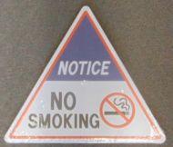 Triangle Sign: No Smoking