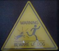Triangle Sign: Beware of Dog
