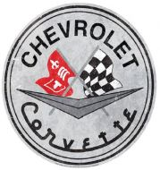 """15"""" Dome Sign """"Corvette"""""""