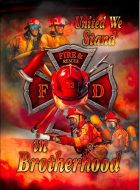 """12x17 Metal Sign """"Firefighters"""""""