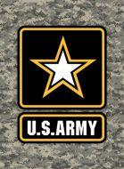 "12x17 Metal Sign ""Army Star"""
